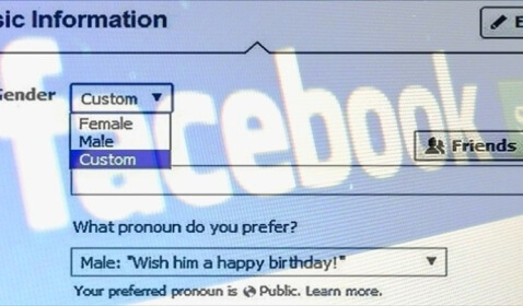Facebook Custom Gender Options