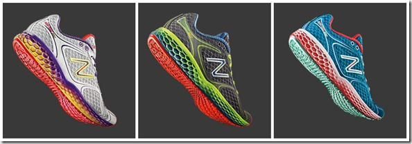 new balance color collage