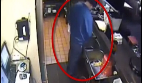 Pizza Hut Manager Can Be Seen on Video Relieving Bladder in the Restaurant's Kitchen Sink