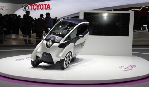 The Toyota i-Road: Three-Wheeled Electric Vehicle