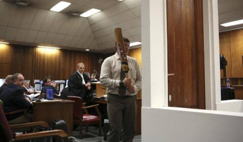 Oscar Pistorius's Defense Team Will Questions Police on Toilet Door