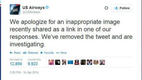 US Airways Sends Pornographic Tweet to a Customer