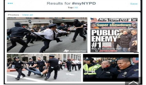 #MyNYPD Images Turn Ugly