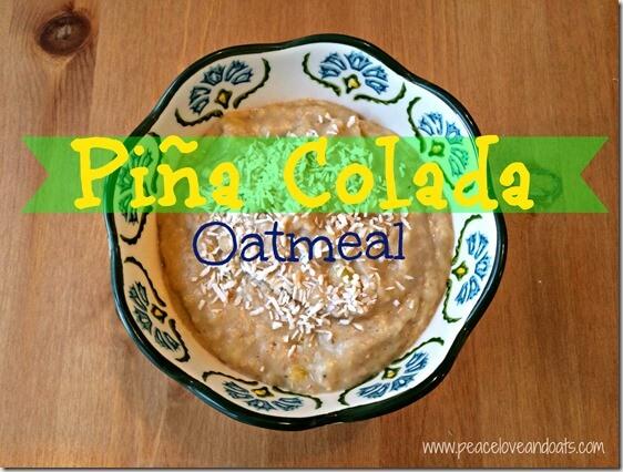 pina colada oatmeal