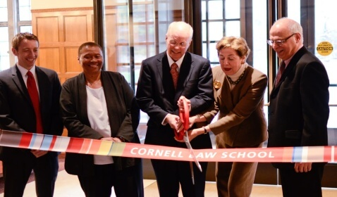 Cornell Law School Officially Opens New Wing