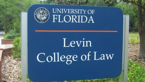 Gville_UF_Levin_Law_sign01