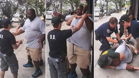 NYPD Killing of Eric Garner Leads to Flash Mob at Times Square Precinct