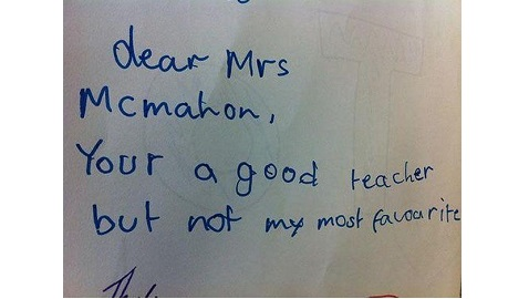 Humorous Pictures of Children's Tactless Notes