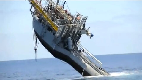 YouTube Videos Demonstrate Ship Flipping Horizonally; Others Battling Storms
