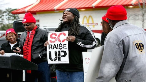 Charleston Fast Food Workers Protest Minimum Wage