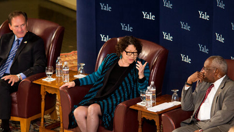 Supreme Court Justices from Yale Hold Court in Woolsey Hall