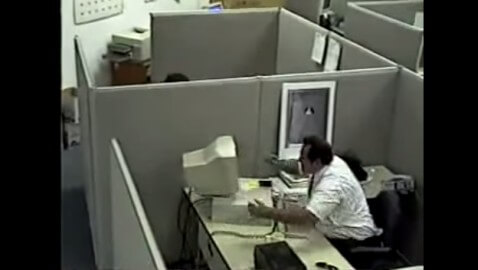 Man Fights His Computer and Wins in This Classic Video