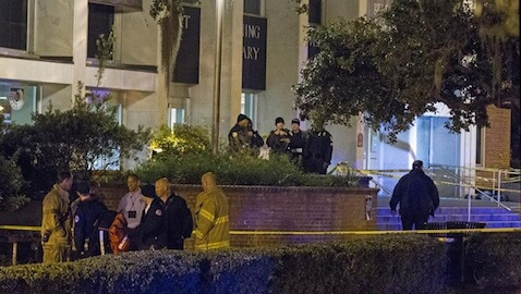 A gunman injured three students and was later killed by police.