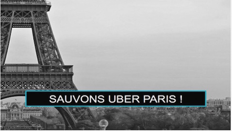 """Save Uber Paris!"" For now, Uber will be allowed to operate in France."