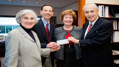 The donation will be used to support a transactional law center at the law school.