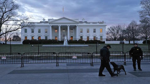 A low-flying drone ended up crashing on White House property.