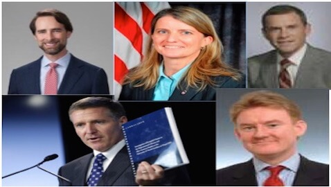 Clockwise from top left: Mills, Tompkins, Quinn, Brophy, Wainstein