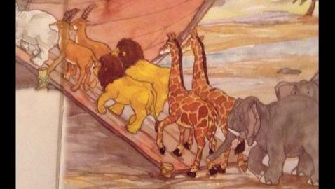 Noah is going to have a hard time breeding the lions...
