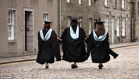 Although the job market is still uncertain, more students are graduating from UK law schools.