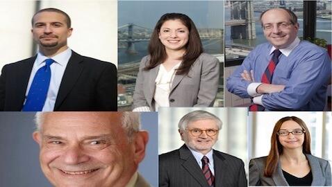 Clockwise from top left: De Castro, Bassen, Frisch, Redcross, Campriello, Abramowitz