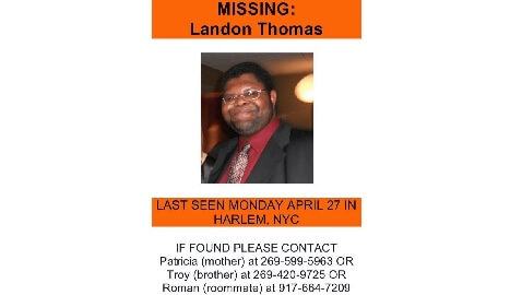 NYU Law School Grad from Harlem Missing