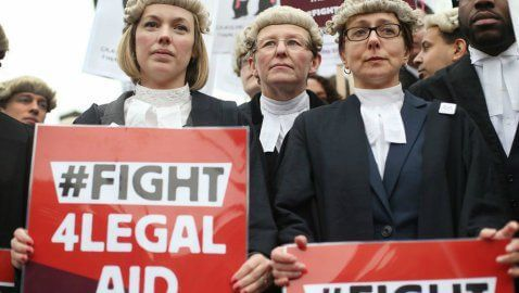 Barrister and solicitor protest