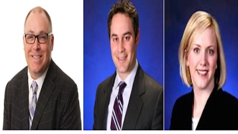 From left: Sherman, Morley, and Krewson.