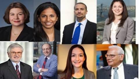 Clockwise from top left: Juteau, Raghavan, de Castro, Bassen, Abramowitz, Redcross, Frisch, Campriello
