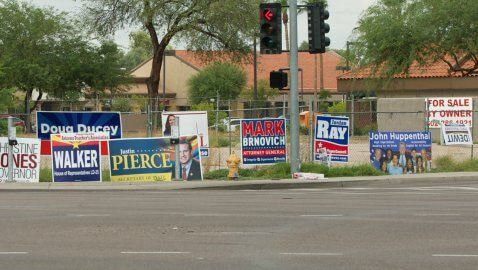 Reed political signs