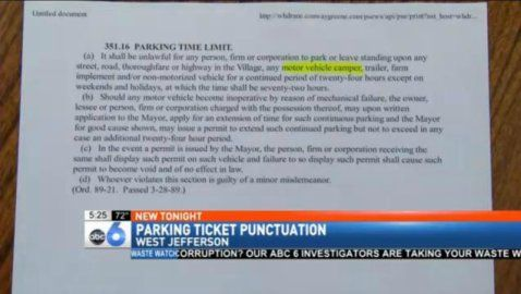 Parking Ticket Discarded for Grammar Mistake