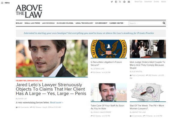AbovetheLaw homepage