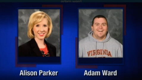 A 24-year-old news anchor and a 27-year-old cameraman were gunned down during a live broadcast Wednesday morning.