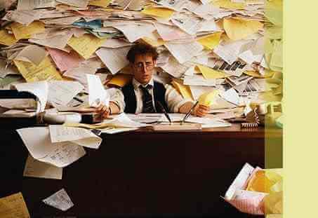 overworked attorney