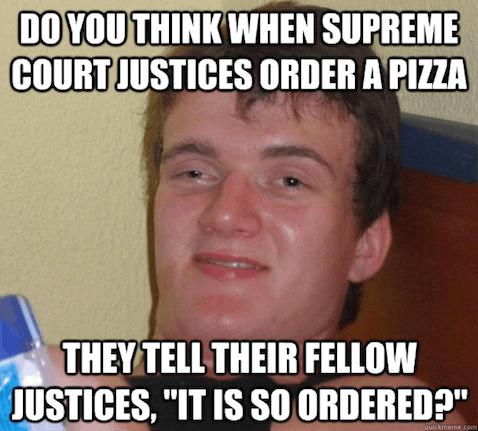 SCOTUS pizza