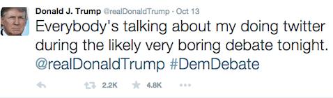 Trump - everyone's talking