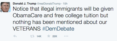 Trump - immigrants and veterans