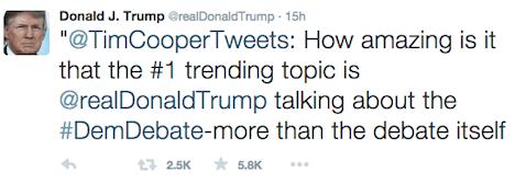 Trump - more people watching Trump twitter