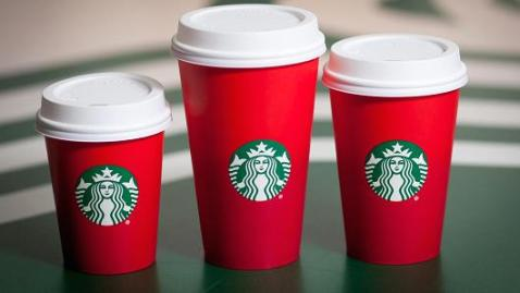 Holiday Starbucks cups
