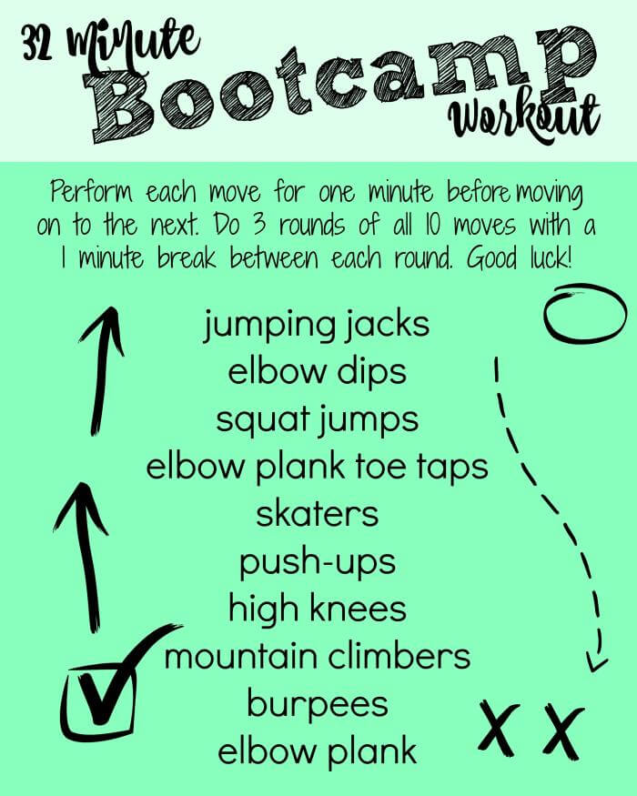 32 Minute Bootcamp-Style Workout