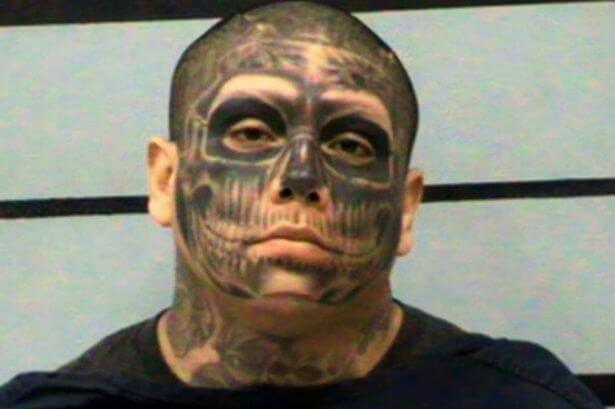 Man with Skull Face Tattoo Arrested for Beating Pregnant Girlfriend
