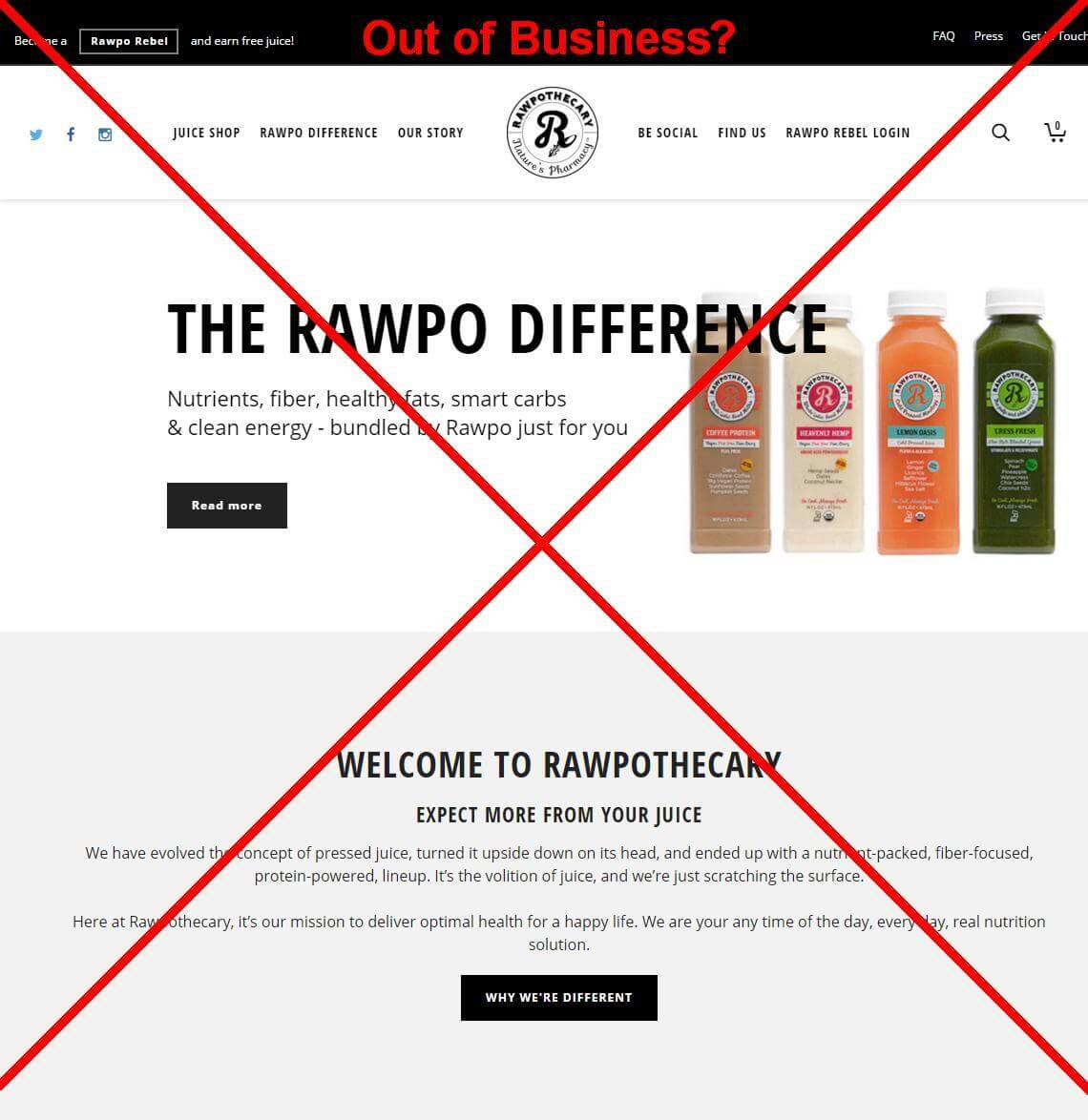 Juice Company Rawpothecary Going Under?