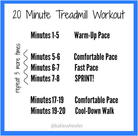 Don't Have Time to Work Out? Do This 20 Minute Treadmill Workout