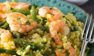 shrimp-and-asparagus-saffron-risotto-and-7-other-great-asparagus-recipes