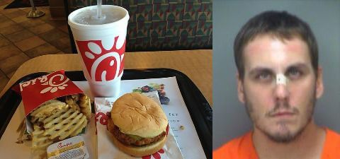 Son Head-Butts Mother Because He Doesn't Want to Eat Chick-fil-A