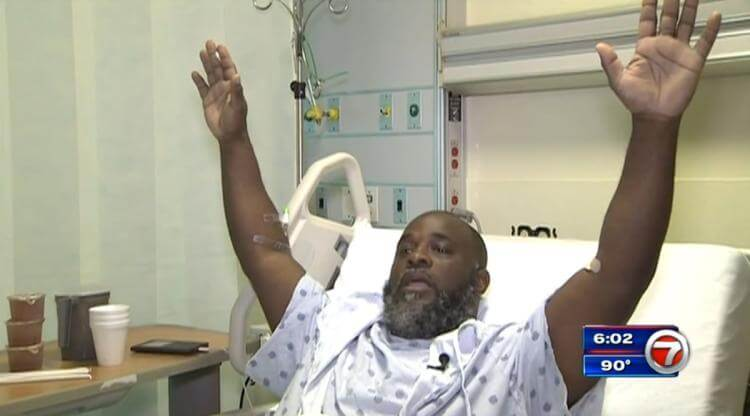 Unarmed Black Therapist Shot While Lying on Ground with Hands Up