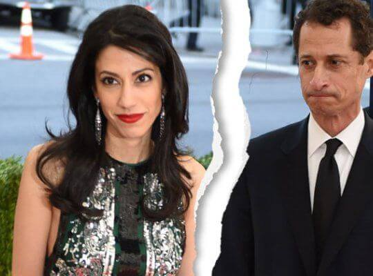 Huma Abedin divorce