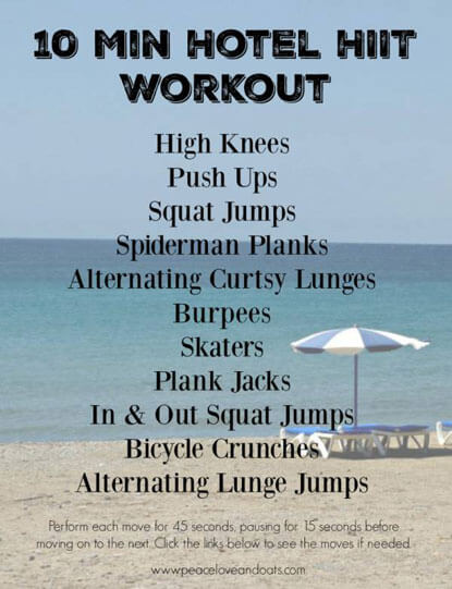 The Perfect 10 Minute HIIT Hotel Workout