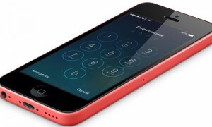 locked iPhone 5C