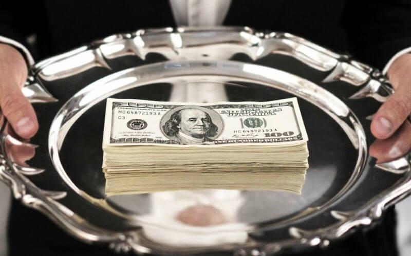 platter of money