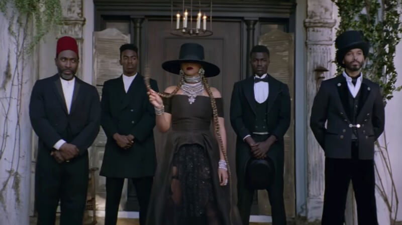 """Beyoncé, in a scene from the video for""""Formation"""